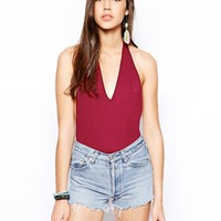 Club L Essentials Low Back Bodysuit - Berry