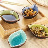 Mini Leaf Shaped Dessert Appetizer Plates Fish Shape Sauce Dish Dinnerware Sushi Snack Soy Vinegar Dishes Plate Dipping Plates