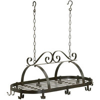 Wrought Iron Hanging Pot Rack Southern Country Living Rustic Home Interior Decor