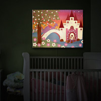 Aother Day in the Life of a Mystical World and Fairytales, Night Light, Illuminated Art, Kid's Art Doubles As A Light