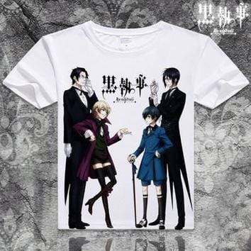 Black Butler Short Sleeve Anime T-Shirt V8