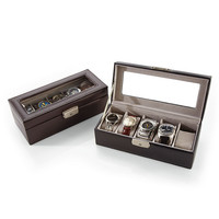 Personalized Leather 5-Slot Watch Boxes at Brookstone—Buy Now!