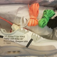 NIKE x OFF WHITE AIR MAX 90 UK 7.5 US 8.5
