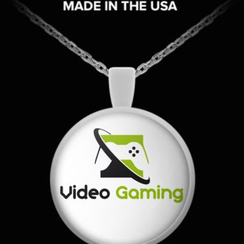 Video Gaming- Round Necklace videogamingnecklace