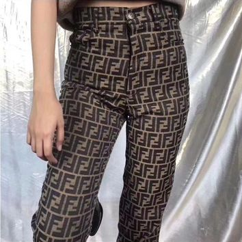 FENDI Classic Vintage Pants Trousers