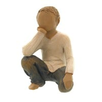Willow Tree INQUISITIVE CHILD Polyresin Boy Son Susan Lordi 26227