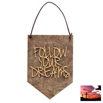Graduation Gift - Inspirational Quote - Follow