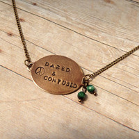 "Led Zeppelin ""Dazed & Confused"" Necklace, Hand Stamped Vintaj"