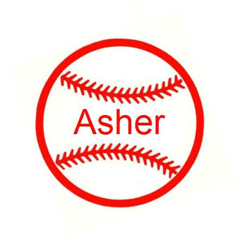 Personalized Baseball Car Decal - Custom Name Baseball Decal - Baseball Laptop Decal - Monogram Laptop Decal - Baseball Monogram Car Decal