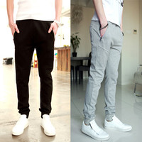 Slim Fit Sweatpants with Zipper Pockets