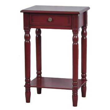 Crestview Vivid Collection Distressed Red End Table