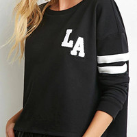 LA Sweatshirt with Stripe Sleeve
