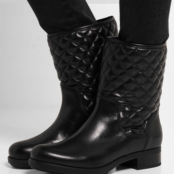 Moncler - New Piccadilly Stiva quilted leather boots