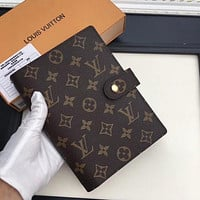 LV tide brand men and women models wild casual hand book notebook #4