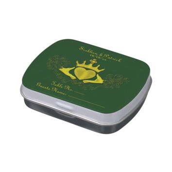 The Claddagh (Gold) (Wedding) Jelly Belly Candy Tin