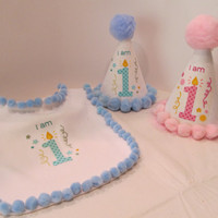 Baby's 1st Birthday Party Hat in Pink or Blue!