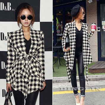 Vogue Womens   Long Sleeve  Lapel Tunic Casual Cardigan Jacket Tops Blazer Suits = 1930227972
