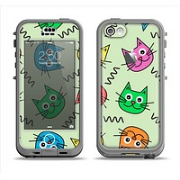 The Colorful Cat iCons Apple iPhone 5c LifeProof Nuud Case Skin Set
