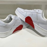 """Nike Air Force 1"" Unisex Casual Fashion Love Heart Low Help Plate Shoes Couple Sneakers Small White Shoes"
