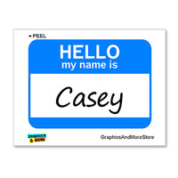 Casey Hello My Name Is Sticker