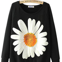 Dream Big Daisy Sweater in Black