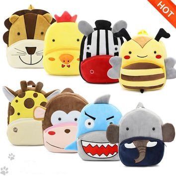 Factory Outlet Kids Animal Backpacks Baby Girls Boys Cute Schoolbag Children Cartoon Bookbag Kindergarten Toys Gifts School Bags
