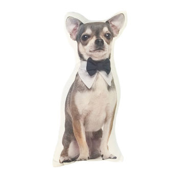 Noble gentleman chihuahua animal 3D Print polyster Custom cushion Home Decor unique Throw Pillow gift decorative pillow sofa