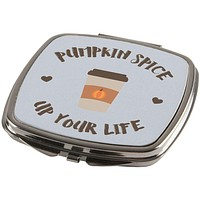 Fall Autumn Pumpkin Spice up Your Life Mirror Compact
