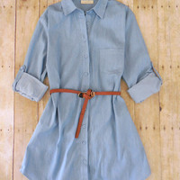 Sagelands Chambray Shirtdress