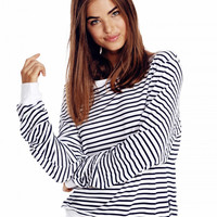 Essentials Thermal Stripe Baggy Beach Jumper by WILDFOX