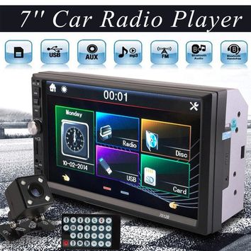 Car MP5 Accessories 7inch 2DIN Car MP5 Player Bluetooth Touch Screen Stereo Radio HD+Rear Camera MP5 Steel Film
