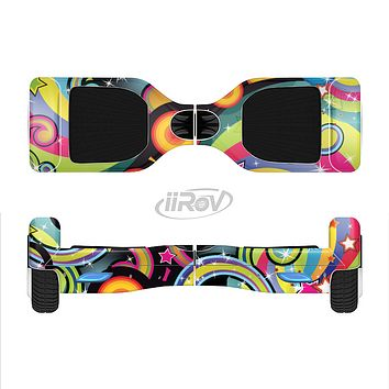 The Vibrant Fun Sprouting Shapes Full-Body Skin Set for the Smart Drifting SuperCharged iiRov HoverBoard