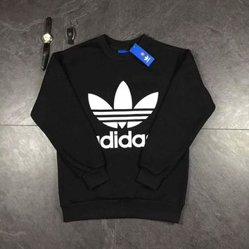 ADIDAS Women/Men Fashion Long Sleeve Pullover Sweater Sweatshirt Hoodie  G-A-HRWM