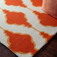 Homespun Maia Trellis Orange Rug