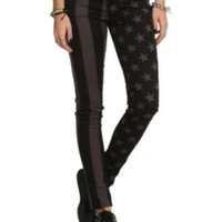 Royal Bones Stars & Stripes Split Leg Skinny Jeans