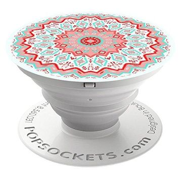 PopSockets: Collapsible Grip and Stand for Phones and Tablets - Aztec Mandala Red
