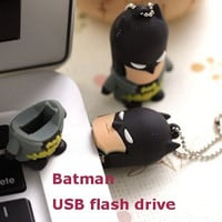Hot sale American film classic characters batman  16GB 32GB USB flash drive Memory Stick Pen Drive for new year gifts = 1928032004