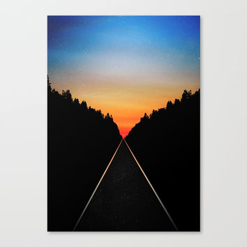 Keep Walking Don't Stop Canvas Print by ruifaria