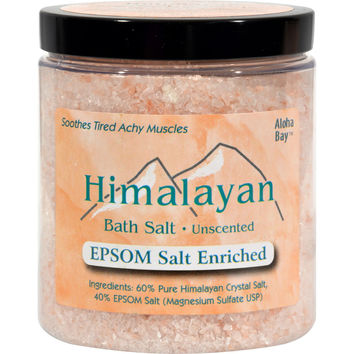 Himalayan Salt Bath Salt - 40% Epsom Salt Enriched - 24 oz