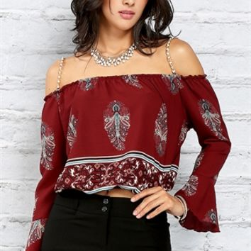 Waist Hugging Open-Shoulder Crop Top
