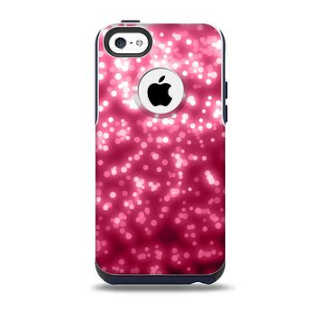The Glowing Unfocused Pink Circles Skin for the iPhone 5c OtterBox Commuter Case