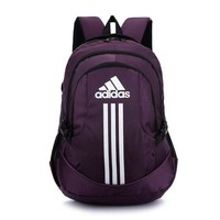 ADIDAS Casual Sport Laptop Bag Shoulder School Bag Backpack Purple