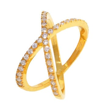 X Ring in Gold