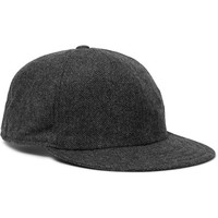 Borsalino - Herringbone Virgin Wool-Blend Baseball Cap