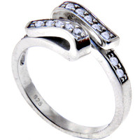 Sterling Silver 925 Cubic Zirconia SWIRL Toe Ring | Body Candy Body Jewelry
