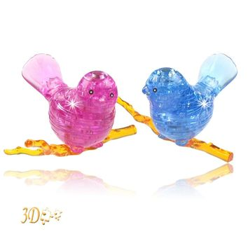 Bird Shaped Crystal Puzzles