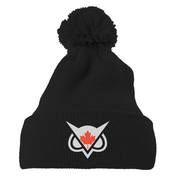 Vanoss Canadian Flag Embroidered Knit Pom Cap