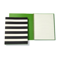 kate spade new york: spiral notebook - black stripe