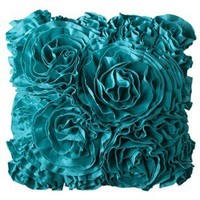 Xhilaration® Jersey Ruffle Decorative Pillow - Turquoise