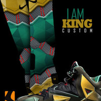 Custom Nike Elite Socks for the Lebron 11 Kings Pride